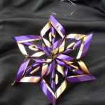 sechseckiger Stern aus Papier